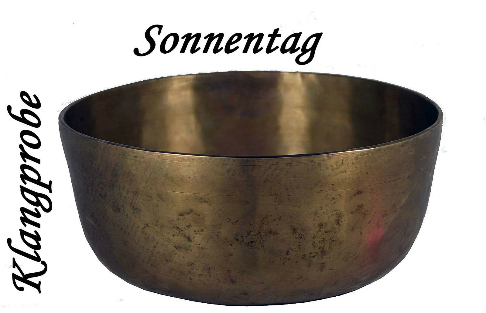 Klangschale Singing Bowl   Erde Sonnentag    Hörprobe   1754g  M80-120