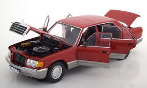 Norev 1987 Mercedes Benz 560 Sel Couleur Rouge 1/18 Echelle Nouvelle Version