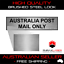 AUSTRALIA POST MAIL ONLY PLAQUE w// Adhesive 80mm x 20mm LABEL SILVER SIGN