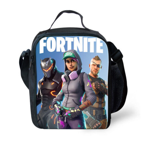 Lunch Bag FORTNITE Insulated School Bag Boys Girls Lunch Box Snack Picnic