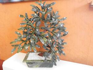 Dekoration-Topfpflanze-ca-44cm-gruen-echter-Edelstein