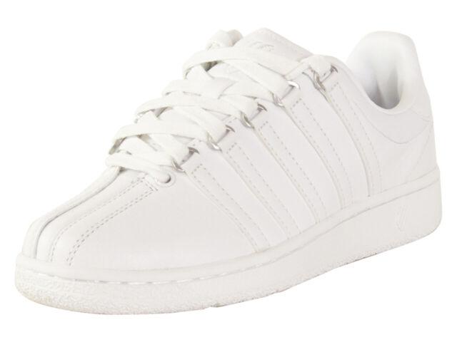 K-Swiss Women/'s Classic VN 93343-101-M White//White New In Box