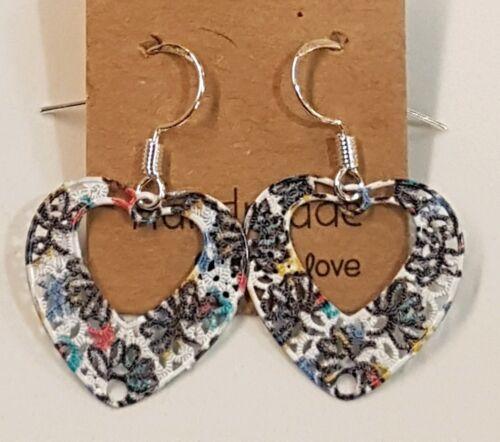 Alloy Enamel Painted Filigree Sterling Silver Earrings