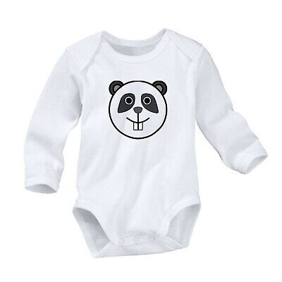 Panda Bear Sweet Romper Cute Newborn Baby 0-24 Months Girl Boy Long Sleeve 1027 Vivid And Great In Style