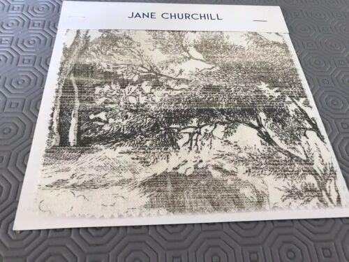 No Returns Jane Churchill Eden Fabric In Charcoal