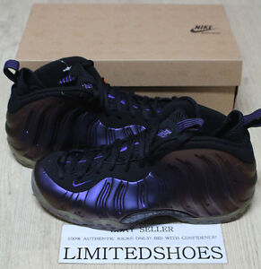 competitive price 139c9 a1fe5 Image is loading 2009-NIKE-AIR-FOAMPOSITE-ONE-EGGPLANT-BLACK-PURPLE-