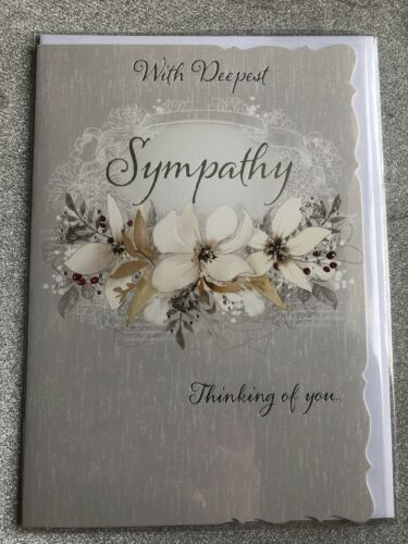 With Deepest Sympathy Condolence Card Thinking Of You