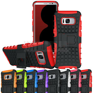 Hybrid-Hard-Armor-Case-Shockproof-Kickstand-Cover-For-Samsung-Galaxy-S8-Plus