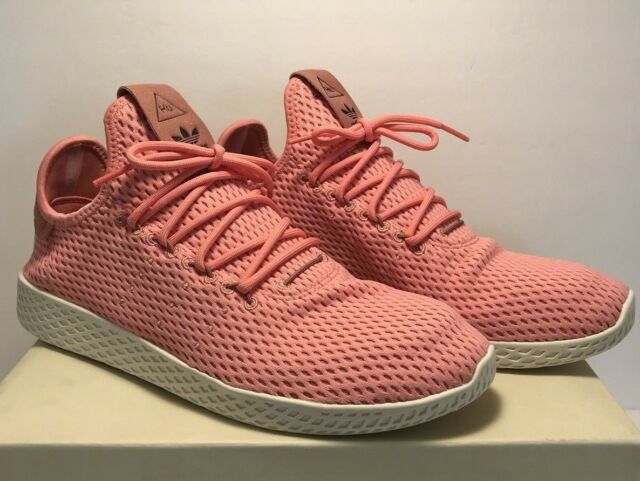 796584811 adidas Originals Pharrell Williams Mens Size 9.5 Tennis Hu Casual Shoes Pink