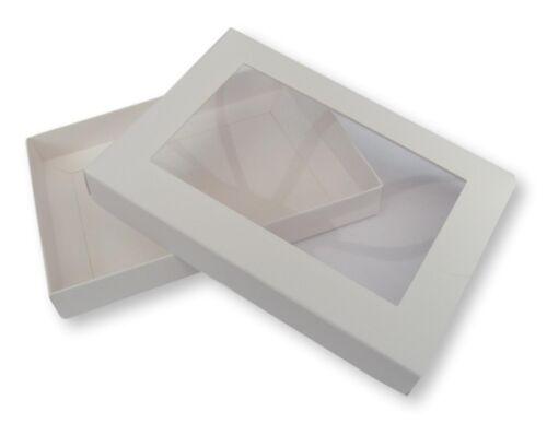 cartes de vœux 20 Blanc A6 fenêtre Boîtes etc. cadeaux