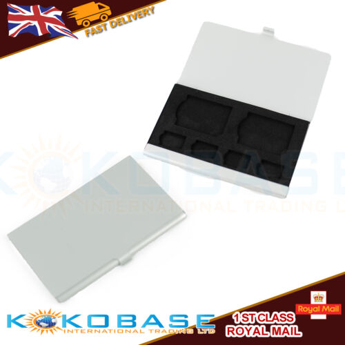 2SD 4 TF Tarjetas Micro SD de Aleación de Aluminio Caja de almacenamiento caja de tarjeta de caso de tarjeta de memoria