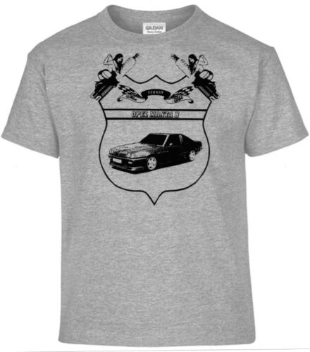 T-Shirt,Opel Manta B Pinup,German Classic Style Oldtimer,Youngtimer