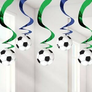 Image Is Loading Football Soccer Themed Hanging Swirl Party Decorations Boys