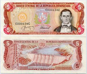DOMINICAN-REPUBLIC-5-PESO-1987-P-118-UNC