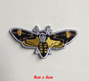 Butterfly beautiful yellow art badge Embroidered Iron on Sew on Patch