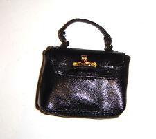 Barbie Doll Sized Accessories Black Handbag Purse For Diorama bw55