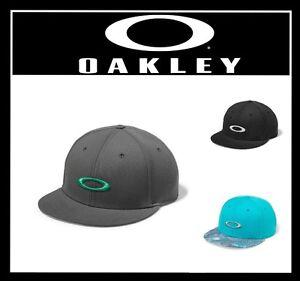 Image is loading OAKLEY-ELLIPSE-PRINT-HAT-SNAPBACK-CAP-ADJUTABLE-FLATBILL- 7e17797f451