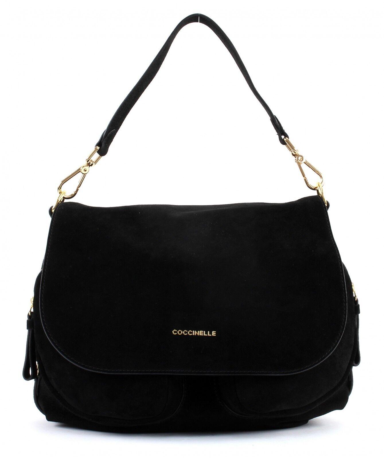 COCCINELLE Janine Suede Shoulder Bag Schultertasche Tasche schwarz schwarz schwarz Schwarz Neu   Schön geformt    Niedriger Preis    Online Outlet Shop  d36b1d