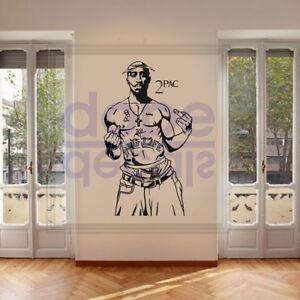 Details Sur 2pac Tupac Thug Life Rappeur Hip Hop Legend A Faire Soi Meme Large Wall Art Autocollant Autocollant Afficher Le Titre D Origine