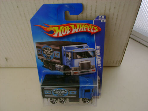 2008 HOT WHEELS HW CITY WORKS HIWAY HAULER BLUE CAB NEW MOC
