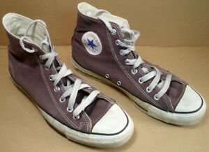 Details about USED VINTAGE CONVERSE HI TOP ALL STAR PURPLE VIOLET MENS SIZE 9 MADE IN USA