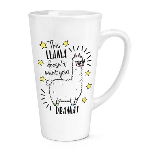 environ 481.93 g CE Lama ne veulent pas votre drame 17 oz Grand Latte Tasse-Drôle Animal Blague