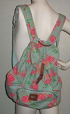 PINK Victoria's Secret VS Blue Pink Floral Roses Backpack Book Bag
