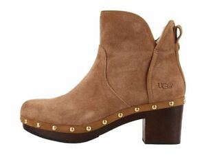ebc9e6f64ab Details about New UGG Australia Women CAM II Suede Chestnut Brown Booties  Ankle Boots Shoes