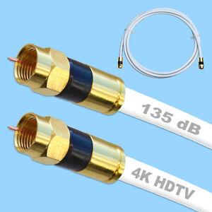 135db digital sat kabel koaxialkabel f kompressionsstecker full hd tv f stecker ebay. Black Bedroom Furniture Sets. Home Design Ideas