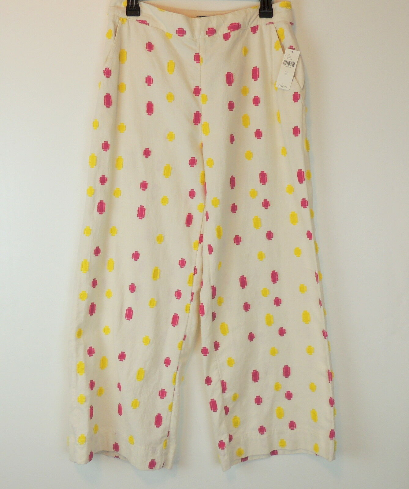 Anthropologie 6 Cropped Clip Dot Trousers Pant  Multi-Farbe Embroiderot  128.00