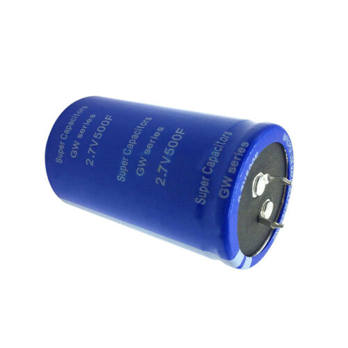 6 Pcs Farad Capacitor 2.7V 500F Super Capacitance Without Protection Board