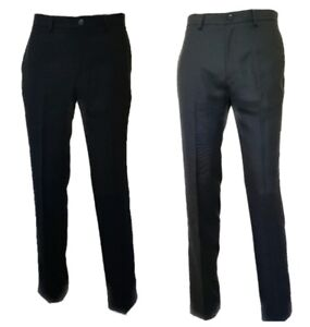 Men-s-New-M-amp-S-Collection-Formal-Trousers-Tailored-Fit-Flat-Front-Suit-Pants