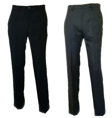 "Men`s Ex-M/&S New Wool Blend Formal Suit Trousers W32/""-L31/"" Charcoal"