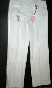 pour Stripe Italy 46 Valentino Tall Tuxedo 8 Pantalon Design Femmes Rouge Blanc Nouveau Nwt wqX8vzW