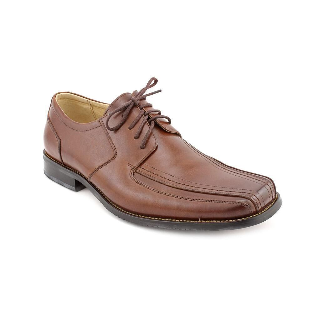 Stacy Adams Mens Brown Martell Leather Formal Lace Up Trendy Dress Bike Toe shoes