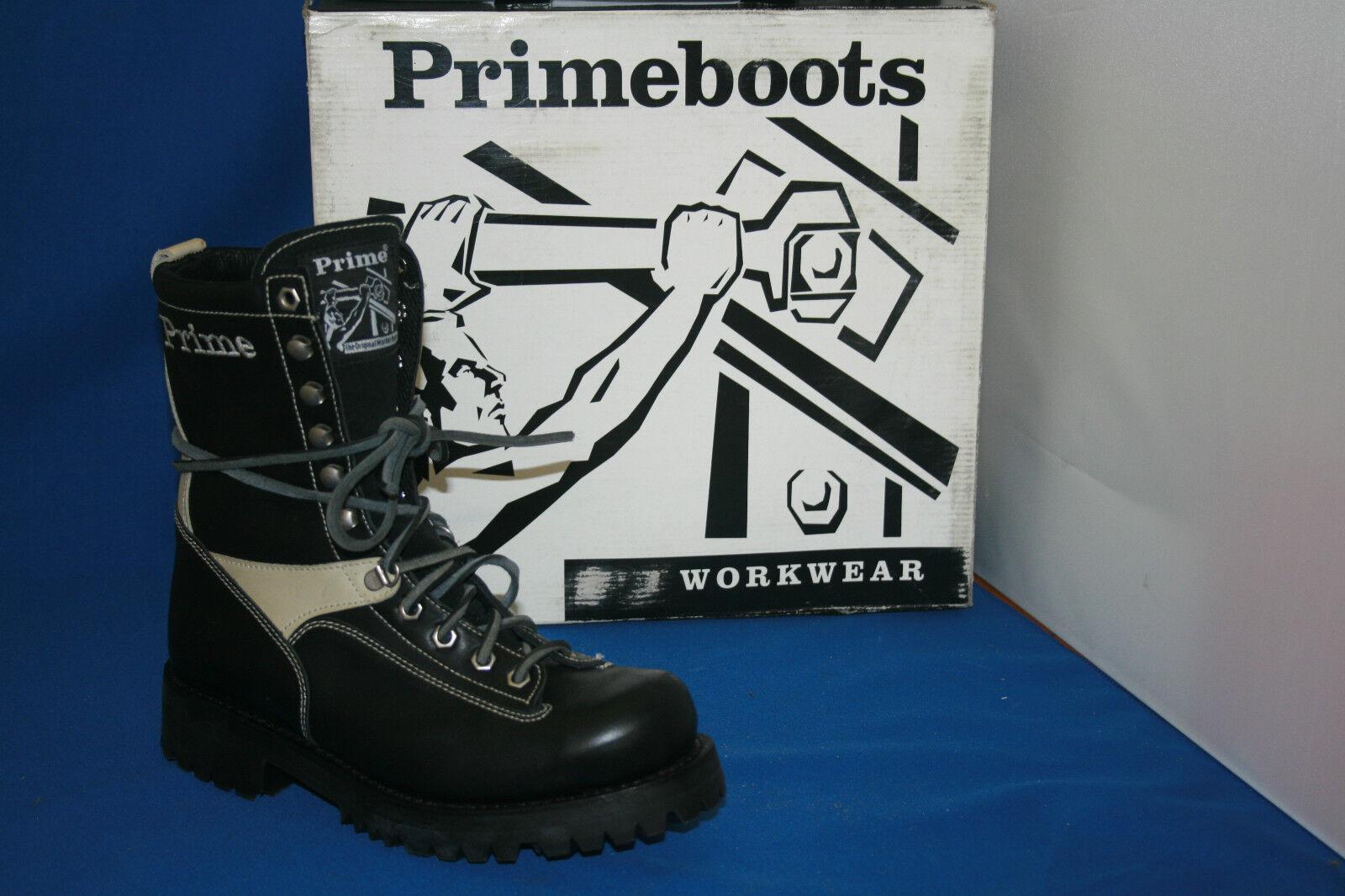 Prime Logger Boots Stivali Taglia. 38 Pelle Nero Bianco Design Fashion