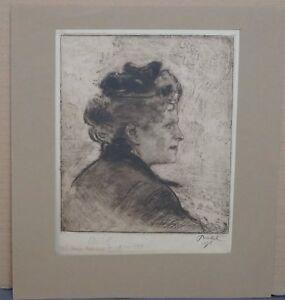 Bernhard-Pankok-Muenster-1872-1943-Baierbrunn-Frau-im-Profil