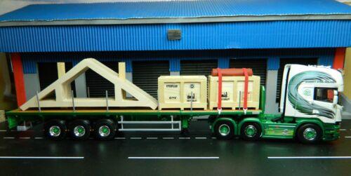 código 3 transporte pesado cajas de madera Tekno Escala 1:50 carga mixta techo cerchas