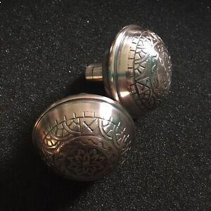 Antique-Pair-Of-Polished-Reading-Hardware-Co-Windsor-Design-Brass-Knobs