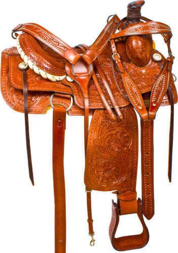 Nueva silla caballo occidental de cuero para todo propósito envío gratuito.