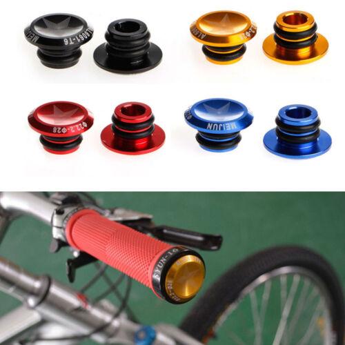 Bike MTB Mini 1 Pair Aluminum Alloy Grip Handlebar Bar End Plugs Stoppers Caps-.
