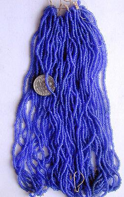 Comprar Barato Antiguo Vintage Azul Cobalto Redondo Abalorios Semilla De Cristal Cuatro Mini