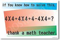 Thank A Math Teacher - Classroom Mathematics Poster