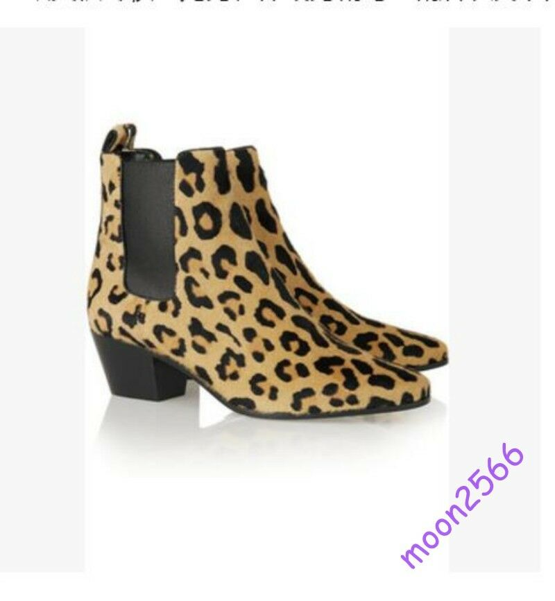 Uomo Fashion Ankle Stivali Real Suede Pelle Loapard Snake Pattern Size Shoes Hot