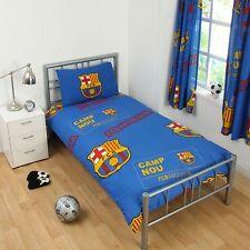 NEW BARCELONA FOOTBALL CLUB SINGLE DUVET QUILT COVER SET BOYS KIDS BEDROOM GIFT