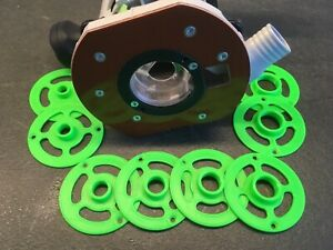 Pour Festool OF 1010 - 8 bagues de copiage + cône de centrage