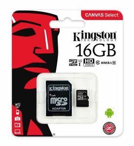 carte sd pour telephone 16GB Kingston Micro Sd Carte Mémoire pour Téléphone Portable