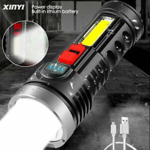 Super brillante 10000000LM Antorcha Linterna LED Luz táctica recargable USB