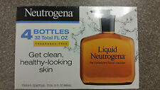 Neutrogena Fragrance Free Liquid Facial Soap Cleansing Formula, New 4 pack, 8 Oz