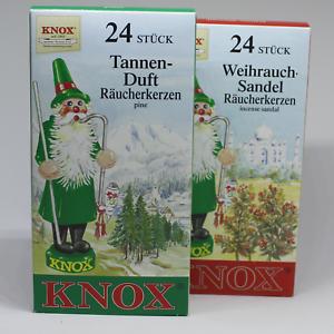 10 PackungenKnox 24 Räucherkerzen Tanne Weihrauch-Sandelaus dem Erzgebirge